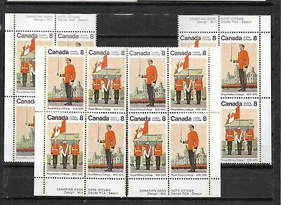 pk45692:Stamps-Canada #693a Royal Military College 8 ct Set of Plate Blocks-MNH