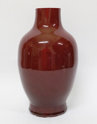 Antique 18th or early 19th century Chinese Porcelain Baluster Oxblood Vase
