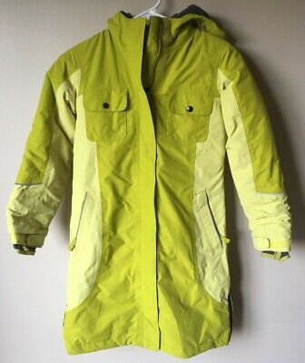 Lands' End Kids The Squall Small 7-8 Waterproof Winter Coat Green Long Very Nice