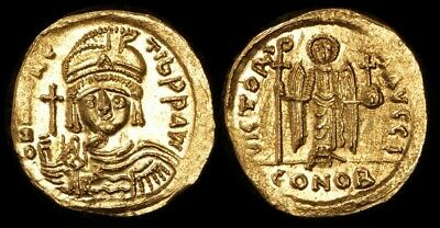 ANCIENT BYZANTINE : Maurice Tiberius 582-602AD AV Solidus Gold. S-478.