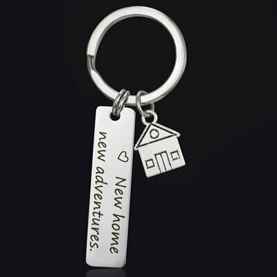 Stainless Steel Keychain New home new adventure Engraved Drive Safe Keyring Gift