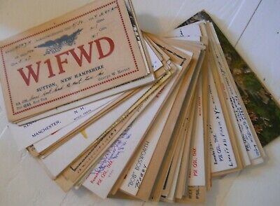 Lot 79 Vtg QSL Cards All New England 30s-50s Amateur Ham Radio