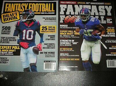 2 -  2019 Fantasy Football GUIDE  magazines -   Pro Forecast &  Draft book