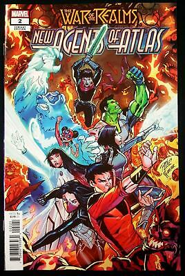 WAR OF THE REALMS NEW AGENTS OF ATLAS #2 1/25 LIM VARIANT 1st FULL SWORD MASTER