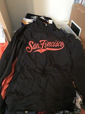 newest 77be6 1f23a SAN FRANCISCO GIANTS Bomber Jacket Mens Large Authentic ...