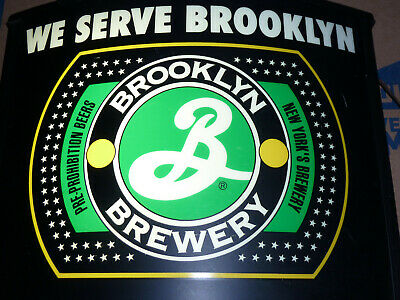 BROOKLYN BREWERY LIGHTED BAR NEW YORK BEER WALL SIGN 16x20x5 w/ SWTCH MAN CAVE