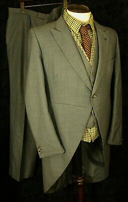 Fine  Vintage Morning Suit Moss Bros Covent Garden + Waistcoat 42 Large 38W 32L