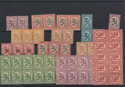 Finland early lions mint multiples (S80)