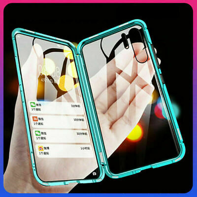360° Double Tempered Glass Magnetic Phone Case Cover For Huawei P30 Pro P20 Lite