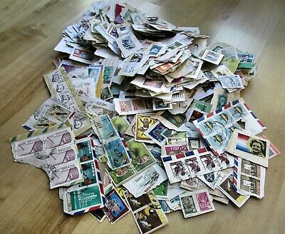 Large lot 400 grams Worldwide Kiloware stamps collection on paper mixture no GB