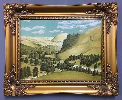 Antique Oil On Board Painting In Gold Gilt Frame, Signed