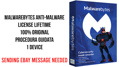 Malwarebytes Anti-Malware License LifeTime 1PC -Business-Corporate Fast Delivery