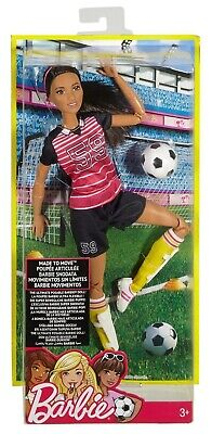 Barbie Made to Move AA Ultimate Posable Soccer Player Articulated Doll New