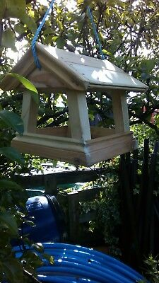 Sloping Sides,Untreated Hanging Bird Table.