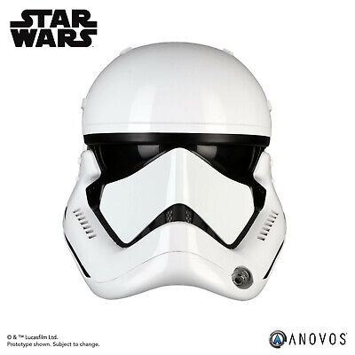 ANOVOS STAR WARS LAST JEDI First Order Stormtrooper Helmet Movie Replica In Hand