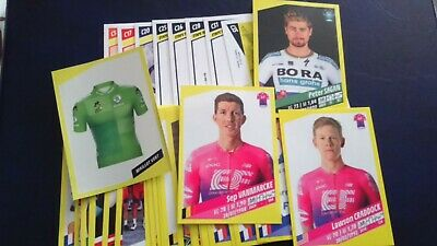 PANINI TOUR DE FRANCE 2019  LOT DE 42 STICKERS et 8 CARTES