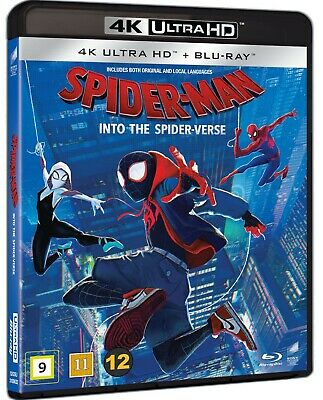 Spiderman Spider-Man Into The Spider-Verse 4K Ultra Hd Blu-Ray 2-Disc New/Sealed