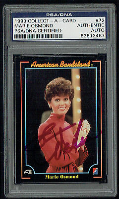 Marie Osmond signed autograph auto 1993 American Bandstand Card PSA Slabbed