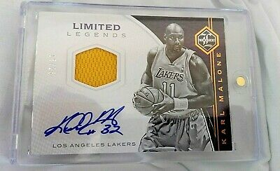 2016-17 Panini Karl Malone Limited Legends Patch Auto 15/25 Los Angeles Lakers