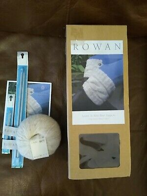 Rowan Learn To Knit Boot Toppers Kit Rowan Alpaca Cotton NEW Everything Included