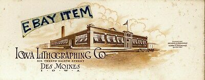old ink blotter GEORGE & EDWIN RAGSDALE Des Moines IOWA LITHOGRAPHING COMPANY