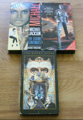 lot of 3 MICHAEL JACKSON VHS Movies The Short Films Legend Continues Greatest