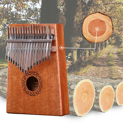 17 Key Kalimba Single Board Mahogany Thumb Piano Mbira Keyboard Instrument F2K7O