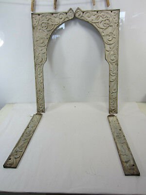 Antique Cast Iron Fireplace Surround Frame Pieces - (complete) #2