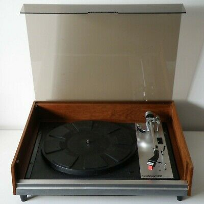 NICE WORKING 70s GOLDRING G-101 RECORD PLAYER TURNTABLE IN FACTORY BOX,NO PICKUP