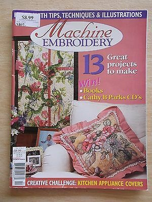Machine Embroidery Vol 10 #2~Wall-Hanging~Bush Orchid pt 1~Beaded Bags~Cushion