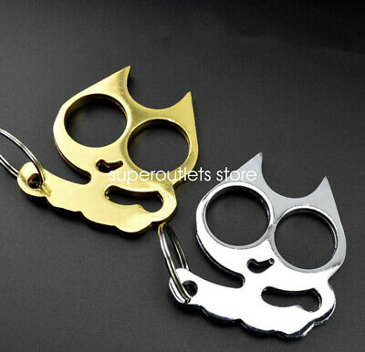 Fashion Personal Classic Cat Self Defense Key Chain Keyring Emergency Metal Tool