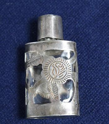 Vintage Mexican Miniature Sterling Silver Perfume Bottle