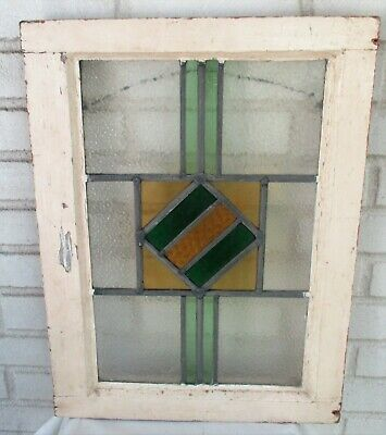 Antique Stained Glass Window Beautiful Design, Excellent Colors, Fit Any Decor!