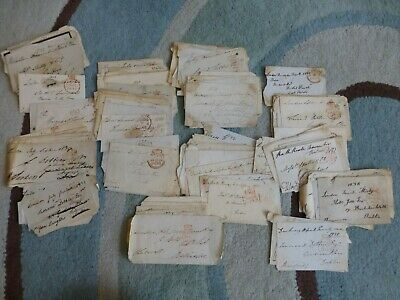 IRELAND - 1820-1850 Huge lot FREE FRONTS from original estate - 170+ items