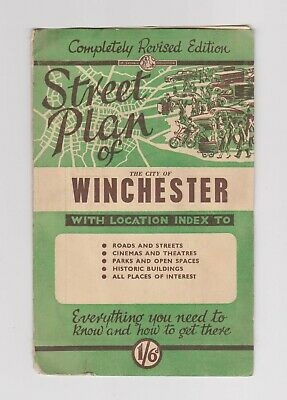 Vintage Service Publications Street Plan / Map of Winchester