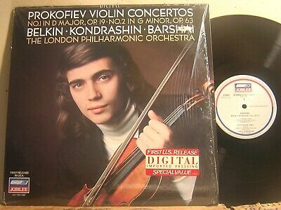 London 411 704 Ffrr Prokofiev Violin Concertos Belkin Kondrashin Digital Nm