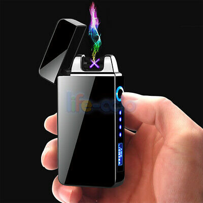 Windproof Dual Arc Plasma Lighter Electric Flameless USB Rechargeable Lighters