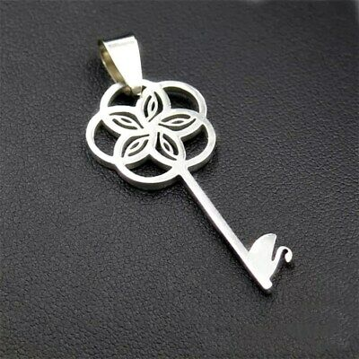 Fashion Swan  Key Silver 316L Stainless Steel Titanium Pendant Necklace G38