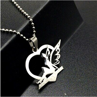 NEW Fairy Elf  Silver 316L Stainless Steel Titanium Pendant Necklace G39