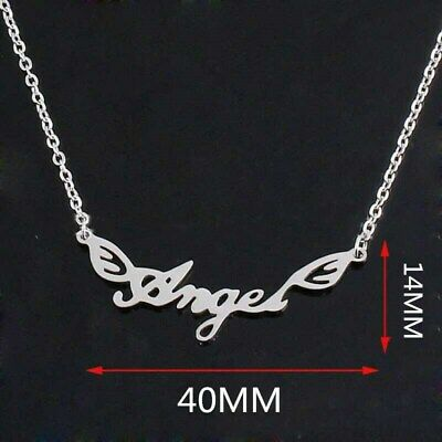 NEW Flying Angel Silver 316L Stainless Steel Titanium Pendant Necklace G31