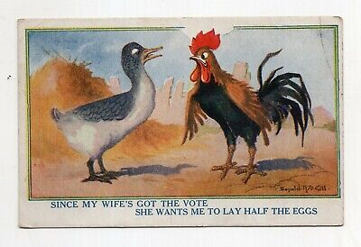 Vintage Woman's Sufferage Postcard
