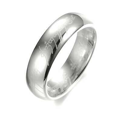 4mm Women Stainless SteelPolished Wedding Party Band Ring Silver Size7