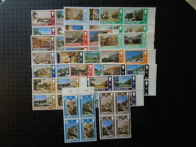 G241 Gibraltar  1971 Vieuws  Definitives  Sg  255-286  Blocks  Of  4   Mnh