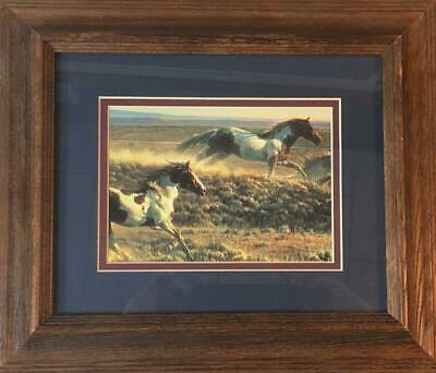Windy Ridge by Nancy Glazier Horses Print 33x20