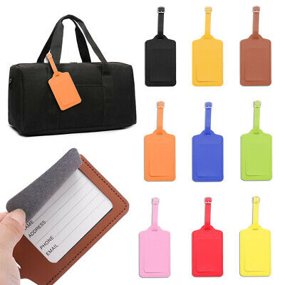 Accessories Leather Luggage Tag Baggage Claim Suitcase Label ID Address Tags