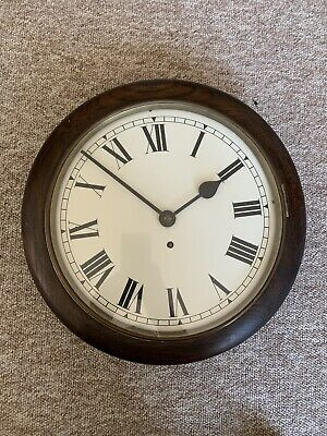 Old Antique Rare German Glass front Pendulam Railway Clock Cica 1920  Works Well