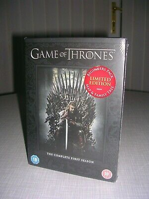 Game Of Thrones, New & Sealed, Limited Edition Dvd Boxset, Complete First Season