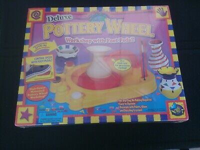 Deluxe Pottery Wheel Workshop With Foot Pedal NSI - Brand New In Box!