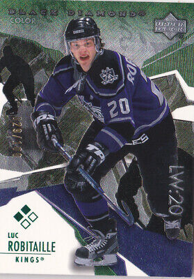 03-04 Black Diamond Luc Robitaille /100 GREEN Double LA Kings 2003