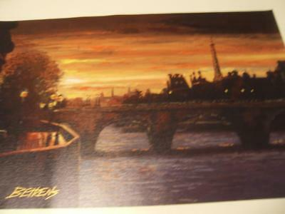 """""""Twilight on the Seine II  By Howard Behrens hand signed & certified"""